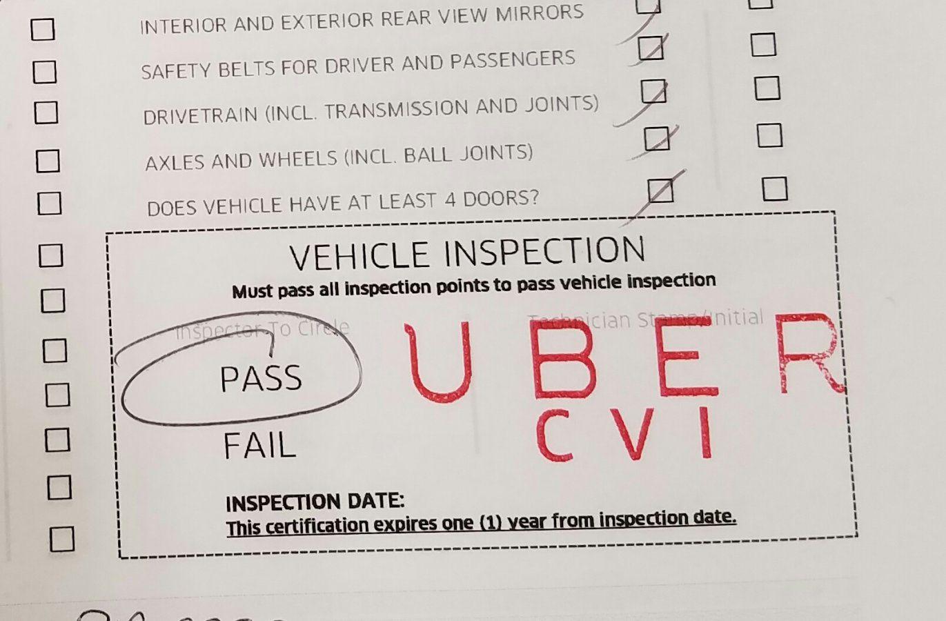 Uber Inspection Cvi Stamp Uber Drivers Forum