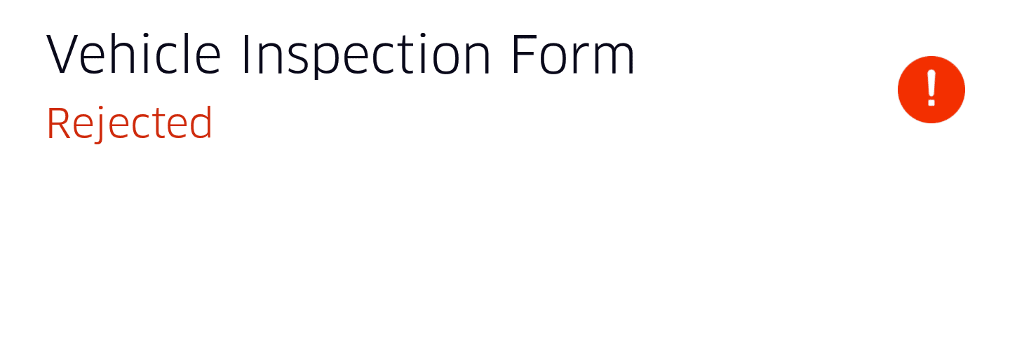 Rejected Inspection Form Uber Drivers Forum