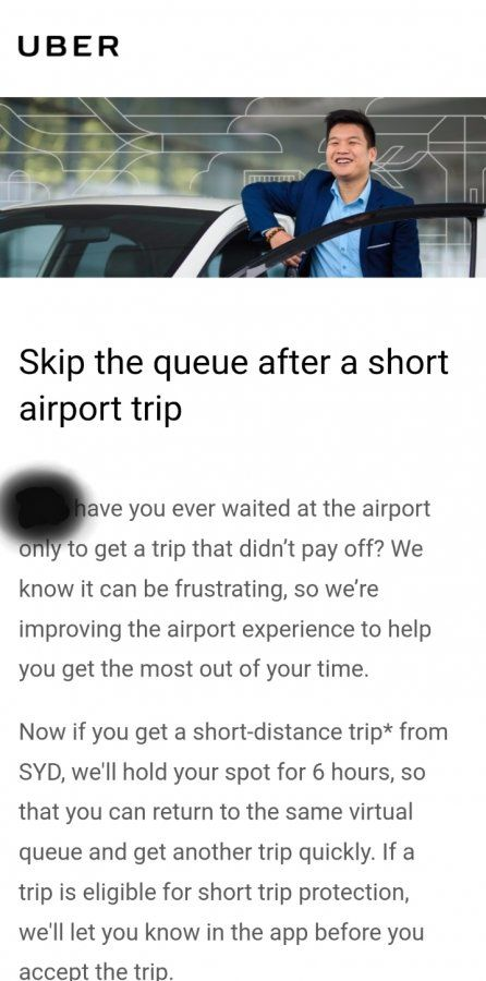 Skip the queue after a short airport trip | Uber Drivers Forum