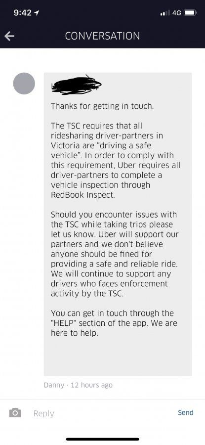 Looks like Uber will pay TSC fines if we got caught without