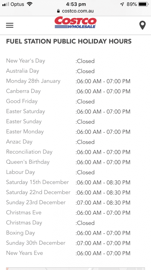 Costco Christmas Eve Hours.Costco Fuel Closed On Christmas Day And New Year S Day