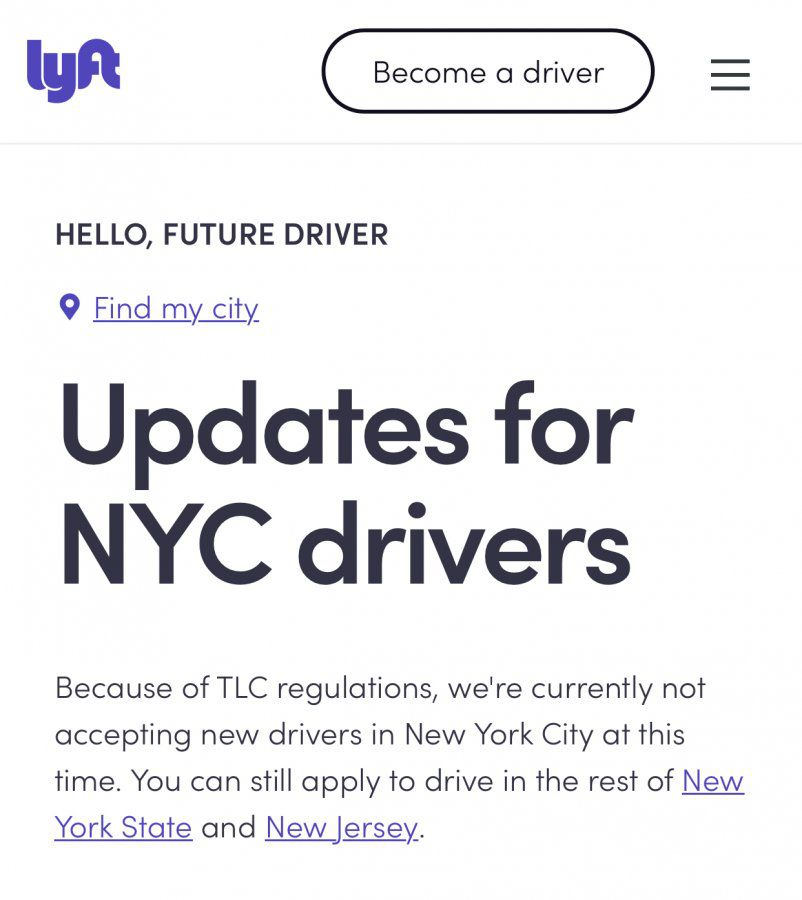 Lyft stopped taking new drivers | Uber Drivers Forum