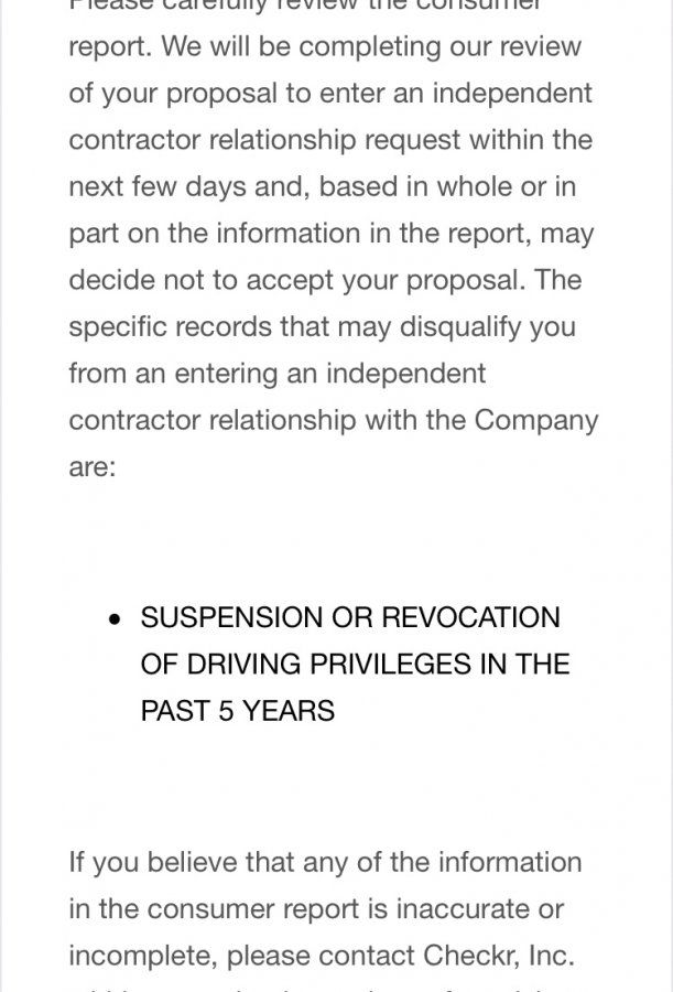 Uber dectivated by Checkr for license being suspended in the