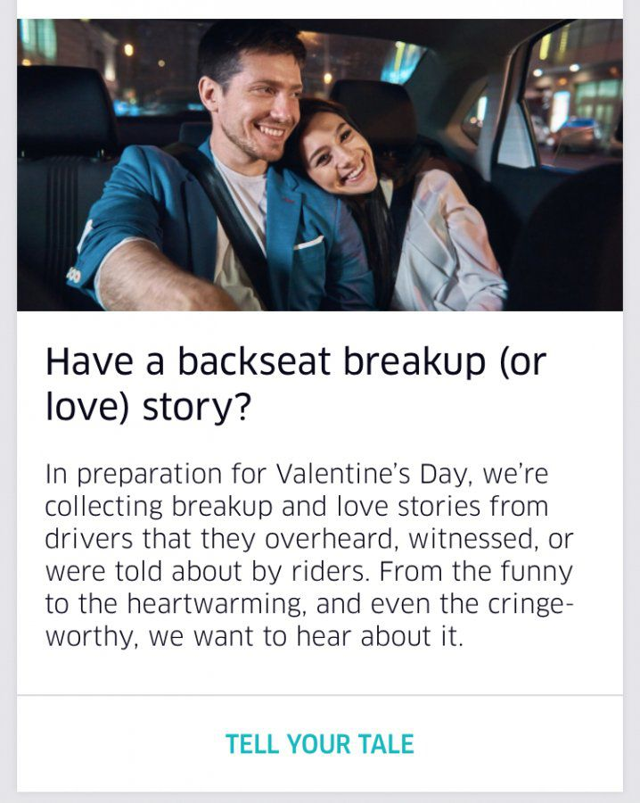 Have a backseat breakup (or love) story? | Uber Drivers Forum