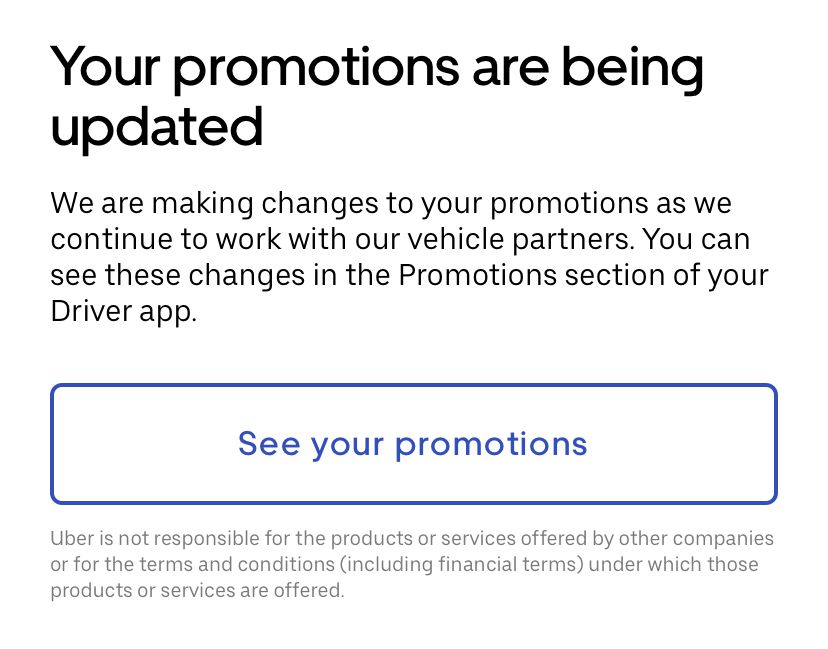 how do uber promotions work for drivers