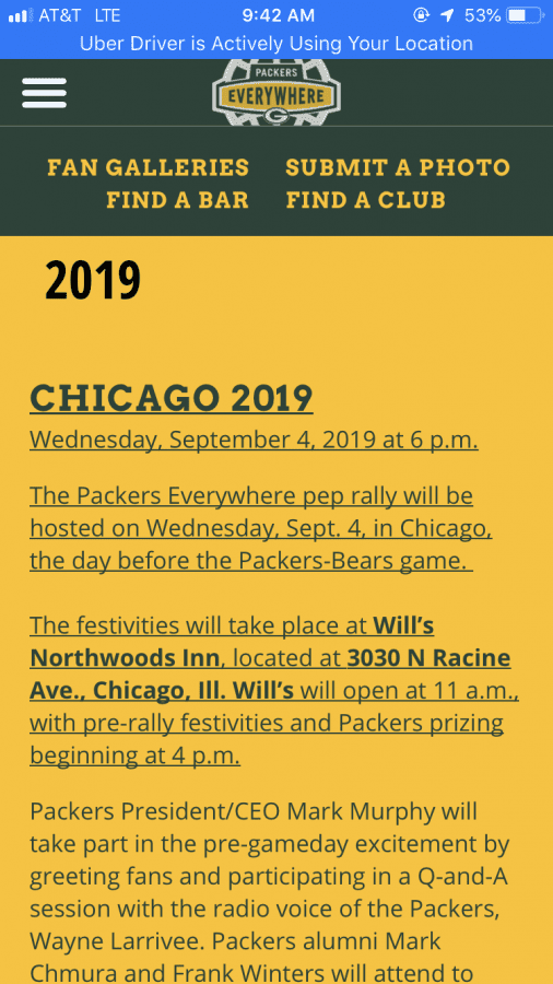 For all of you Green Bay cheeseheads | Uber Drivers Forum