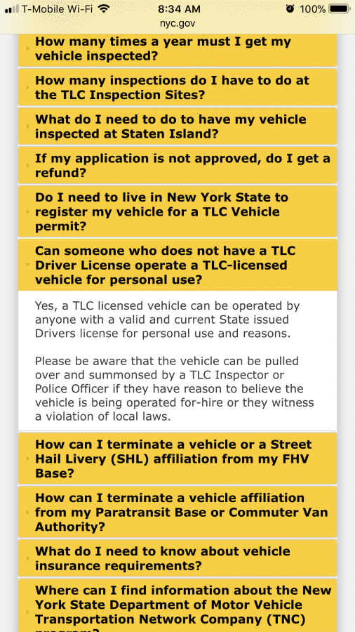 Can My Wife Drive My Fhv For Personal Use With Her Dmv Driver License Uber Drivers Forum