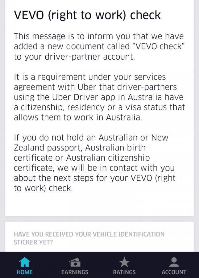 VEVO check by Uber???   Uber Drivers Forum