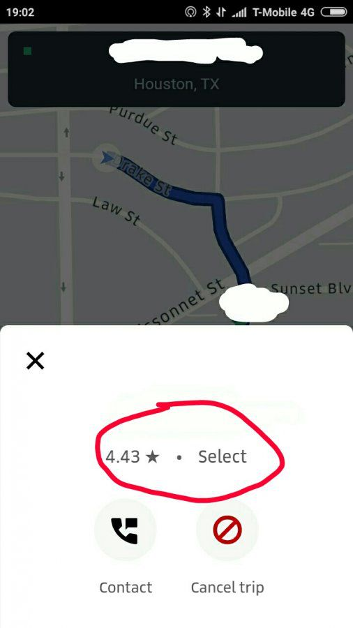 4 43 rating Select request | Uber Drivers Forum