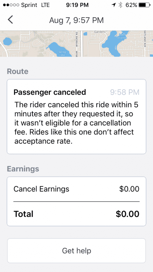 Quit stealing my cancellation fee! | Uber Drivers Forum