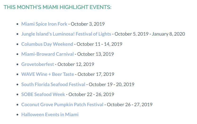Miami Spice 2020 List.October Events Uber Drivers Forum