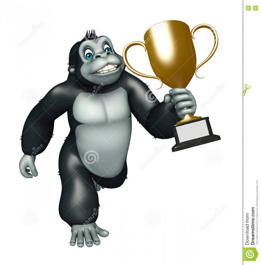 personaje-de-dibujos-animados-lindo-del-gorila-con-la-taza-que-gana-71728798.jpg