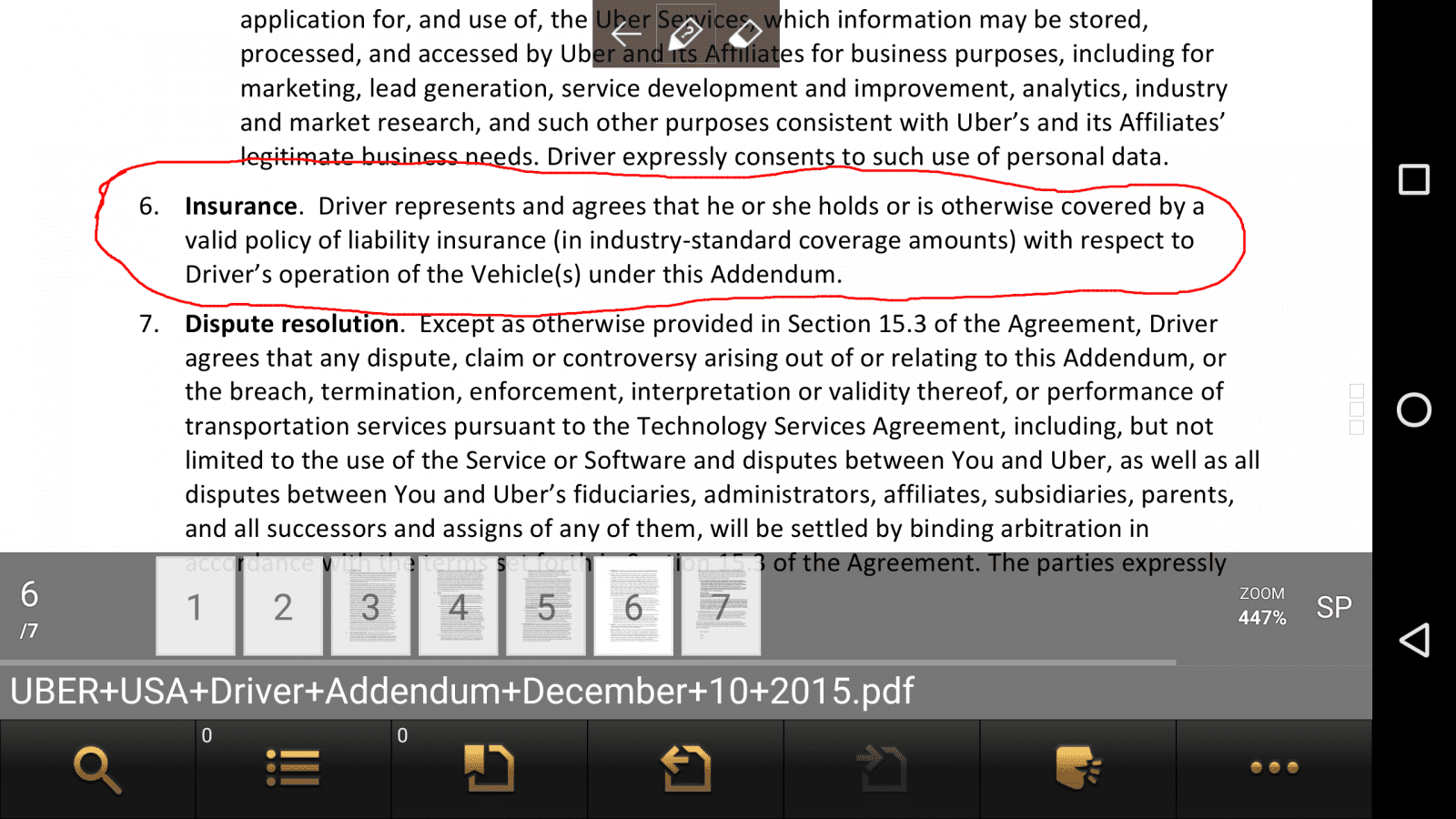 New US Uber Partner Agreement - Dec 11, 2015 (Arbitration
