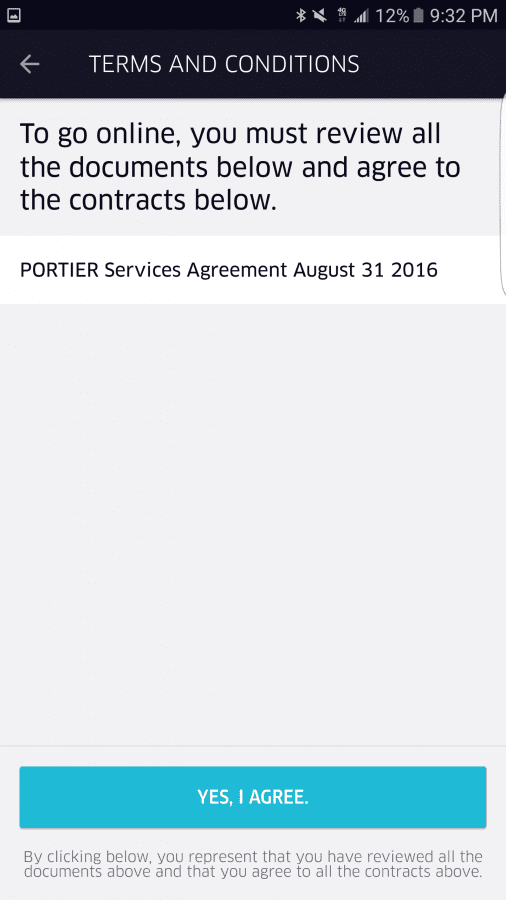 New Uber work agreement | Uber Drivers Forum