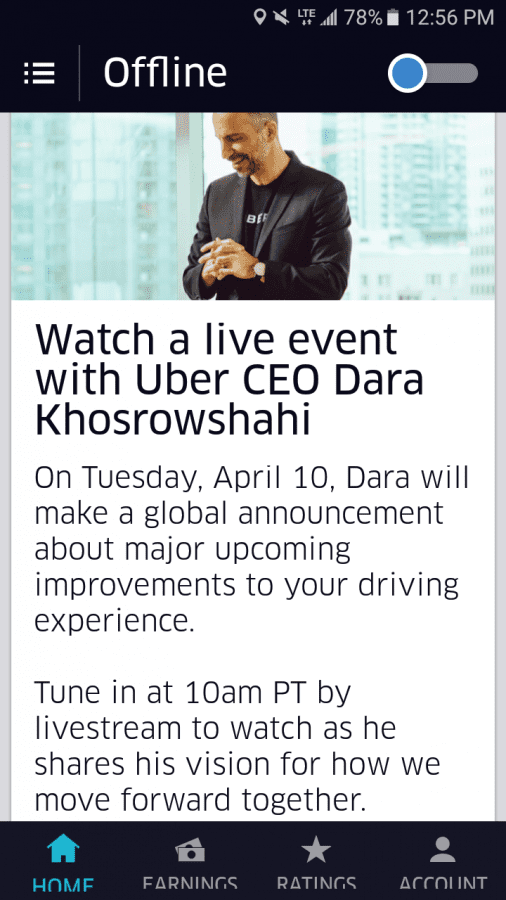 Live Streaming invite by CEO Dara K with Drivers | Uber
