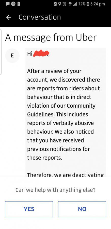 Deactivated from UBER for good    Uber Drivers Forum