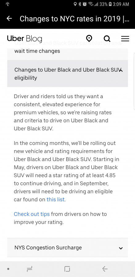 Uber Black Car List >> New Car List Sept 2019 Black Suv Page 2 Uber Drivers Forum