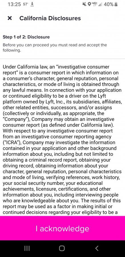 Lyft - new background check notice - did anyone get one