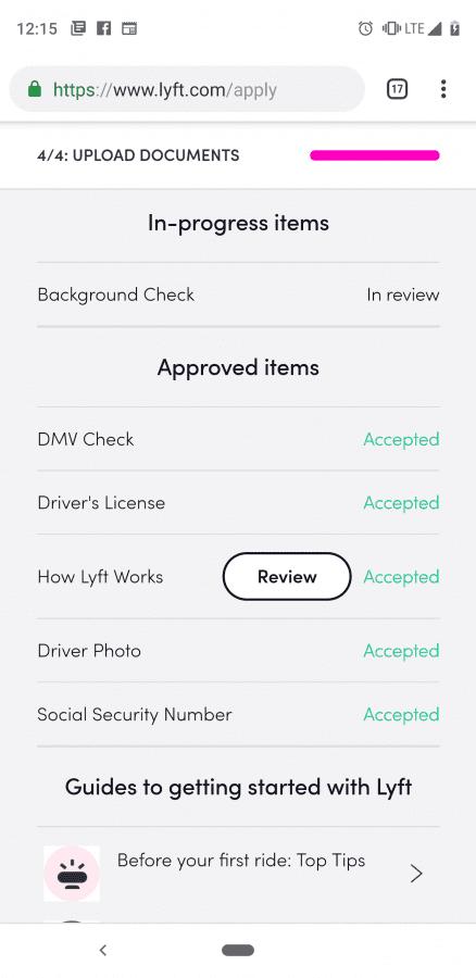 Lyft application question | Uber Drivers Forum