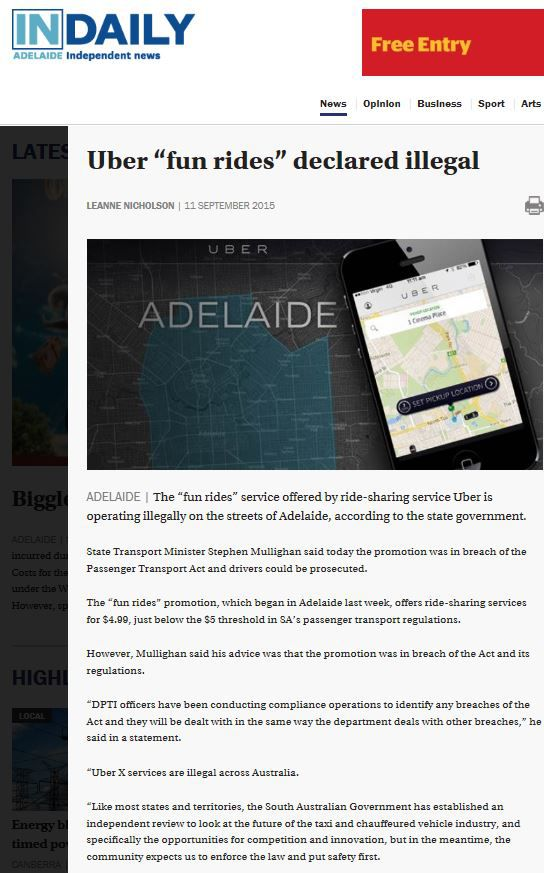 Uber 'fun rides' declared illegal.JPG