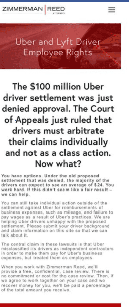 Uber Class action settlement rejected again | Uber Drivers Forum